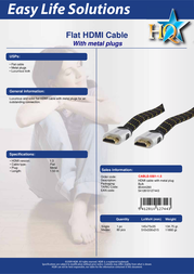 Valueline CABLE-5501-1.5 Leaflet