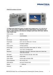 Praktica Luxmedia 12-Z4 256933 Leaflet