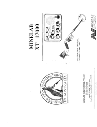 Minelab XT 17000 User Manual