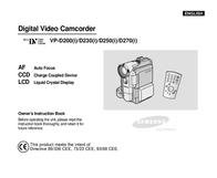 Samsung Upright DV  VP_D230 VP-D230 User Manual