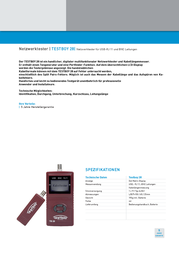 Testboy 28 Cable tester, cable tester Testboy 28 Data Sheet