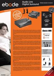 ebode Audio Link Digital Surround ALDS58 Leaflet
