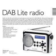 Dualit Lite Radio Dab Leaflet