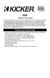 Kicker 2003 KQ9 Owner's Manual