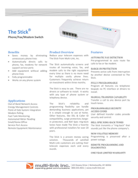 Multi-link The Stick STK29112 Leaflet