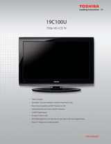 Toshiba 19C100U Leaflet