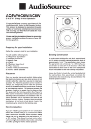 AudioSource AC5W User Manual