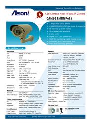 Asoni CAM625MIR Leaflet