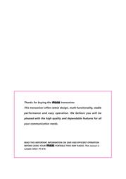 Maas Elektronik PT-819 PMR Radio 2016 User Manual