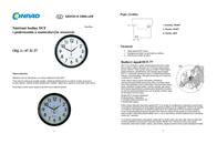 Eurotime (Ø x H) 30.5 cm x 4.5 cm Black 53692-05 Data Sheet
