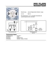 JUNG Insert Shutter switch LS 990, AS 500, CD 500, LS design, LS plus, FD design, A 500, A plus, A creation, CD plus, S 509 VU Data Sheet