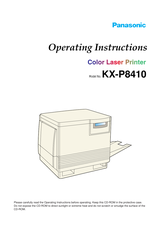 Panasonic kx-p8410 User Manual
