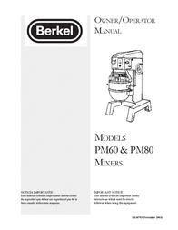 Berkel PM60 User Manual