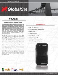 Globalsat bt-368i Specification Guide