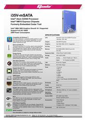 Giada i35V I35V-BM571 Leaflet