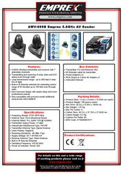 Emprex AWV-699B Leaflet