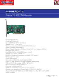 Highpoint RocketRAID 1720 RR1720 Leaflet