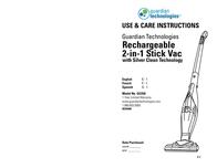 Guardian Technologies Guardian Technologies, LLC Vacuum Cleaner GGS50 User Manual