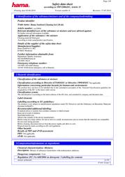 Hama Notebook Cleaning Kit 00039894 Data Sheet