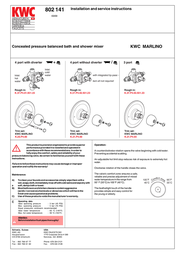 KWC MARLINO 802 141 User Manual