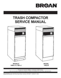 Broan 1050-J User Manual