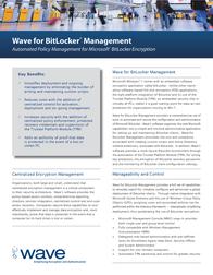 Wave BitLocker Manager 35-001049-1 Leaflet