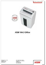 HSM 104.3 Office 3.9 1285 Leaflet