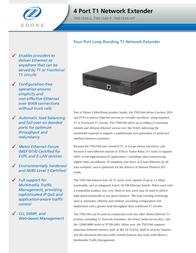 Zhone T1 Network Extender TNE1544-S-AC Leaflet