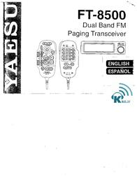 Yaesu FT-8500 User Manual