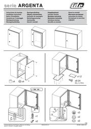 Ide Wall housing steel sheet 500x400x200 49051 Leaflet