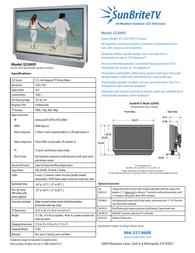 SunBriteTV 3220HD Leaflet