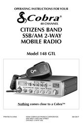Cobra 148 GTL 148-GTL User Manual