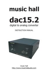 Music Hall dac15.2 USB Digital Audio Converter dac15.2 User Manual