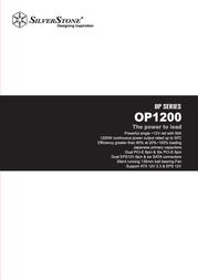 Silverstone OP1200 SST-OP1200 User Manual