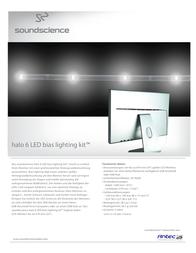 SoundScience Bias Lighting 0-761345-77020-0 Leaflet