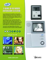 Svat Handsfree 2 Wire Video Intercom System VISS6002 Leaflet