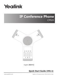 YEALINK NETWORK TECHNOLOGY CO. LTD. CP920 User Manual