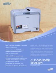 Samsung CLP-500 Leaflet