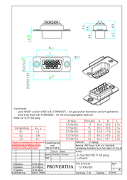 Provertha D-SUB receptacle 180 ° Number of pins: 15 Solder bucket ST1561G3 1 pc(s) ST1561G3 Data Sheet