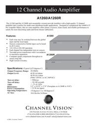 Channel Vision A1260 Leaflet