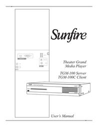 Sunfire TGM-100C User Manual