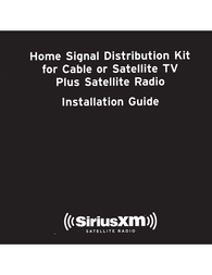 SiriusXM Home Antenna and Signal Distribution Kit Owner's Manual