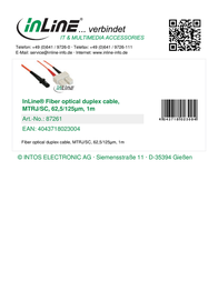 InLine 1m MTRJ/SC 87261 Leaflet