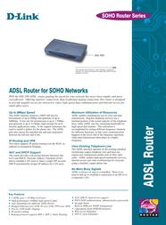 D-Link Router 1xENet MProt ADSL RJ45 DSL-500 Leaflet