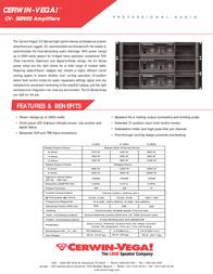 Cerwin-Vega CV-Series Leaflet