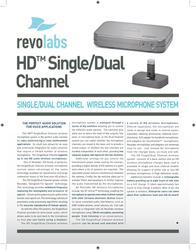 Revolabs HD Dual Channel 04-HDDUALEU-NM Leaflet