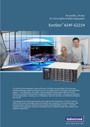 Infortrend A16U-G2421 3U rack-mount A16U-G2421-12 User Manual