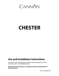 Cannon CHESTER 10540G User Manual