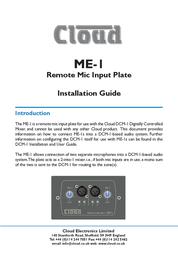 Cloud B Microphone ME-1 User Manual