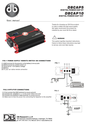 DB Link DB Research Power Supply DBCAP5 Leaflet